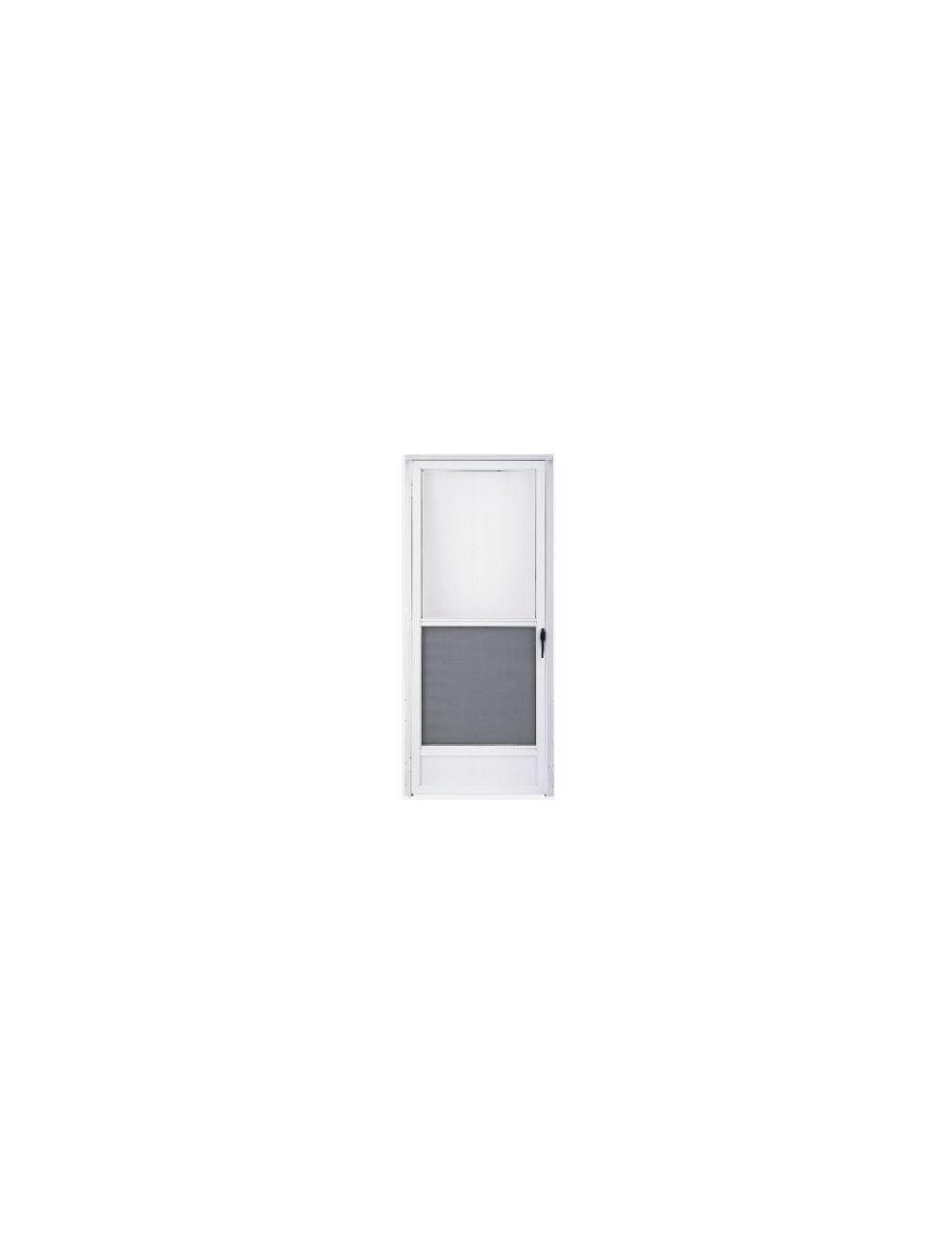 Storm Door 32x76 Lh White